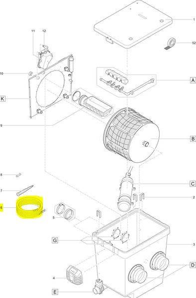 Kabelschutz quintet trommelfilter for Oase living water ersatzteile